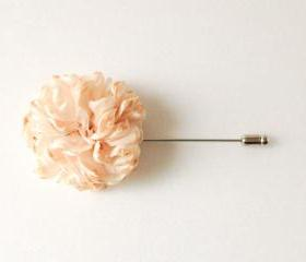 ESTHER-Champagne Men's flower Boutonniere/Buttonhole for wedding,Lapel pin,hat pin,tie pin