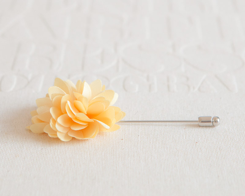 KAYLA-Yellow Men's flower Boutonniere / Buttonhole for wedding,Lapel pin,tie pin