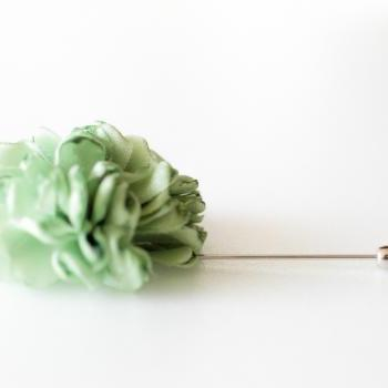 ESTHER-Light Green Men's flower Boutonniere/Buttonhole for wedding,Lapel pin,hat pin,tie pin